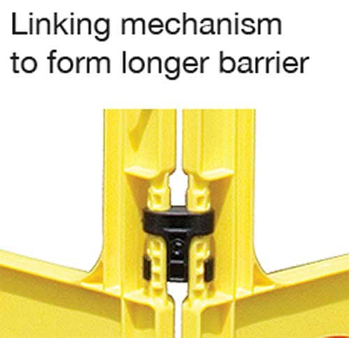 JSP 3-GATE POLYPROPYLENE FOLDING WORK BARRIERS - Cleaning Products