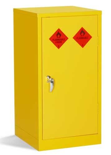 Bright yellow mini storage cabinets for flammable liquids - COSHH STORAGE & ACCESSORIES