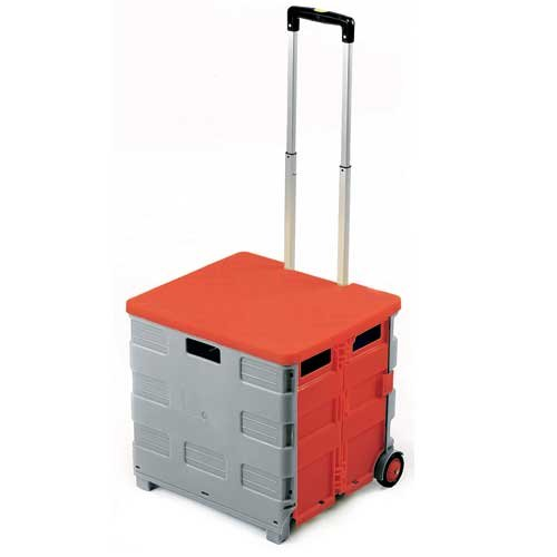 FOLDING CANVAS BAG OR PLASTIC BOX TRUCK WITH OPTIONAL LID - Materials Handling