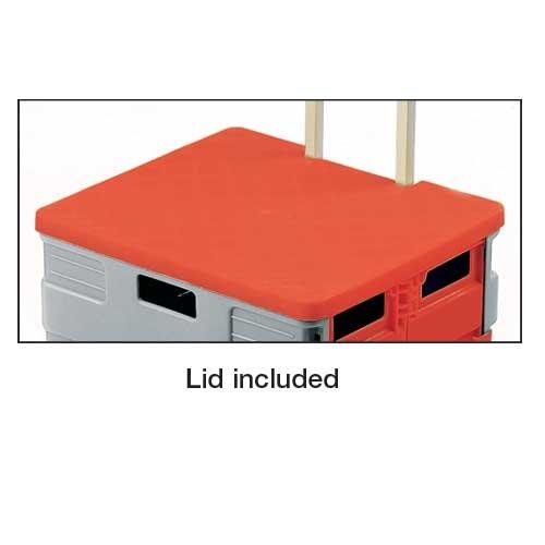 Folding Canvas Bag or Plastic Box Truck with Optional Lid - PLATFORM TRUCKS & TROLLEYS
