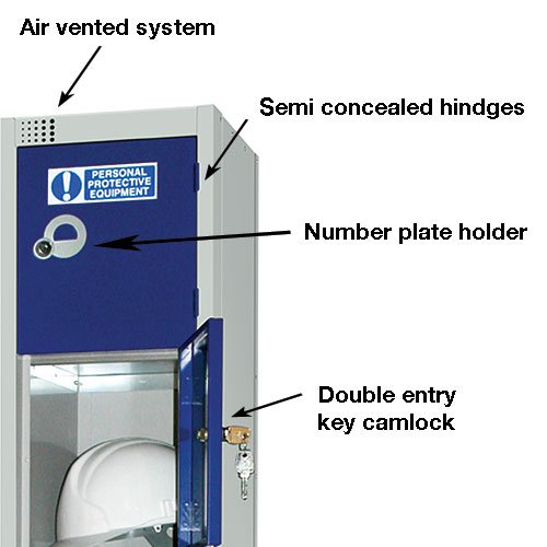 DURABLE PPE TIERED WORKPLACE LOCKER SYSTEM