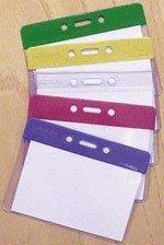 Multicoloured Plastic Badge Pocket Holders - Security