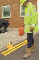 Thermoplastic road marking system for traffic control - Line Marking & Traffic Paint