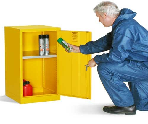 STABLE AND SECURE COSHH-COMPLIANT FLAMMABLE LIQUID STORAGE CUPBOARDS - COSHH Storage & Accessories