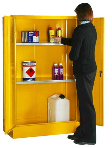 Stable and Secure COSHH-compliant Flammable Liquid Storage Cupboards