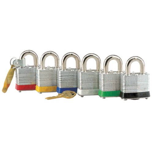 Squire colour-coded keyed alike padlocks - 10