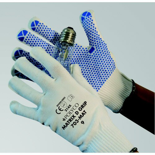 Polyco Matrix® seamless D-grip gloves - Safety Work Gloves