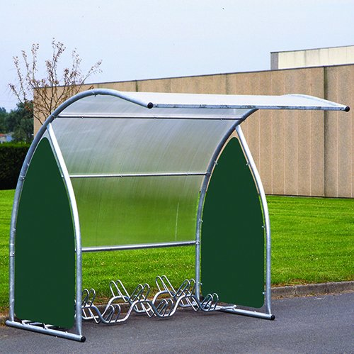 Curved Cycle Shelter