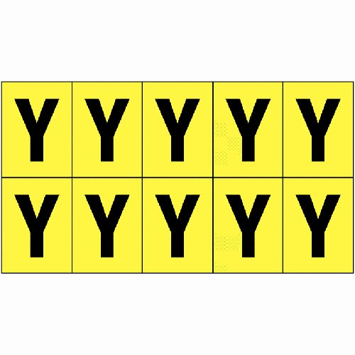 Vinyl Cloth Letter Y 25mm - Stock Clearance - Everything Must Go!