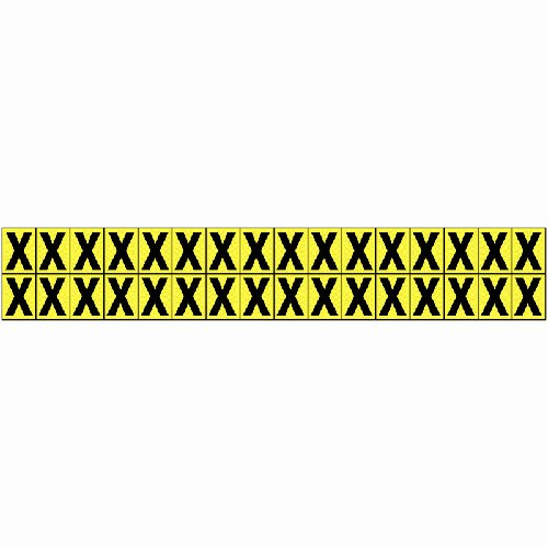 Vinyl Cloth Letter X 16mm - Stock Clearance - Everything Must Go!