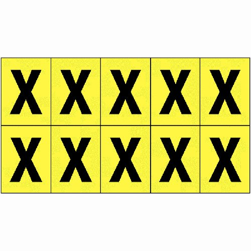 Vinyl Cloth Letter X 51mm - Stock Clearance - Everything Must Go!
