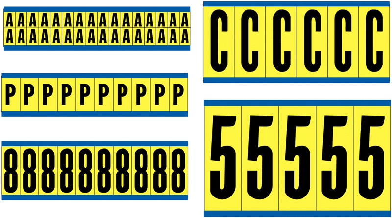 Vinyl Cloth Letters & Numbers - Letters & numbers Labels