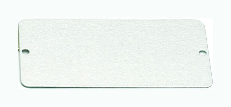 Aluminium, stainless steel or brass blank metal tags - Brass & Aluminium Tags & Fasteners