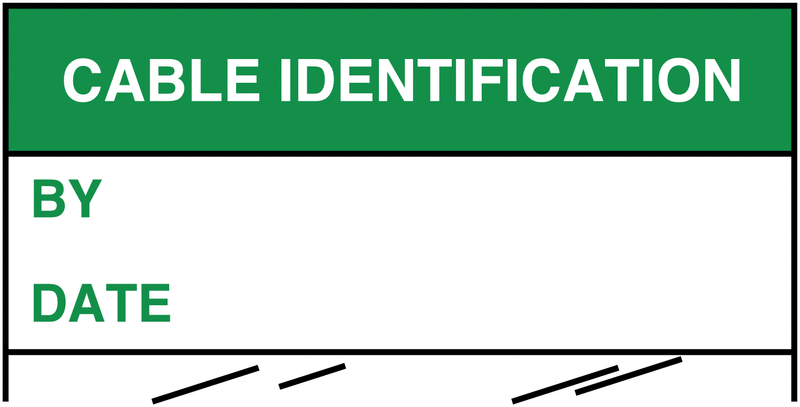 Electrical Safety Write-On Cable Markers - CABLE IDENTIFICATION BY/DATE - Electrical Labels