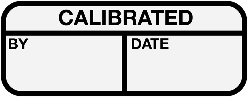 Electrical Safety Write-On Cable Markers - CALIBRATED BY/DATE - Electrical Labels