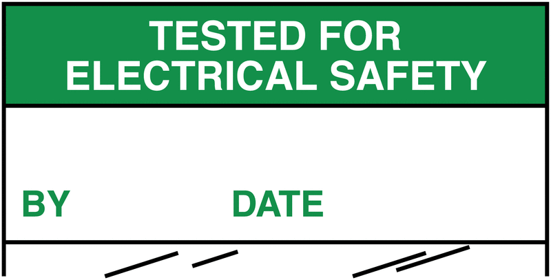 Electrical Safety Write-On Cable Markers - TESTED FOR ELECTRICAL SAFETY BY/DATE - Electrical Labels