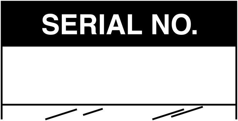 Electrical Safety Write-On Cable Markers - SERIAL NO - Electrical Labels