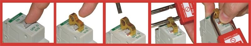 Small and simple MCB toggle lock