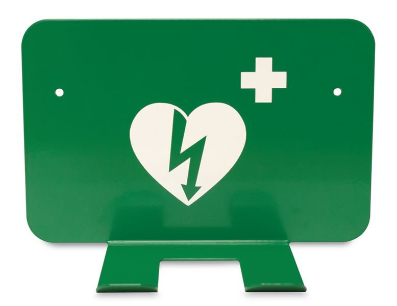 Highly-Visible Pre-Drilled AED Defibrillator Wall-Mounting Bracket