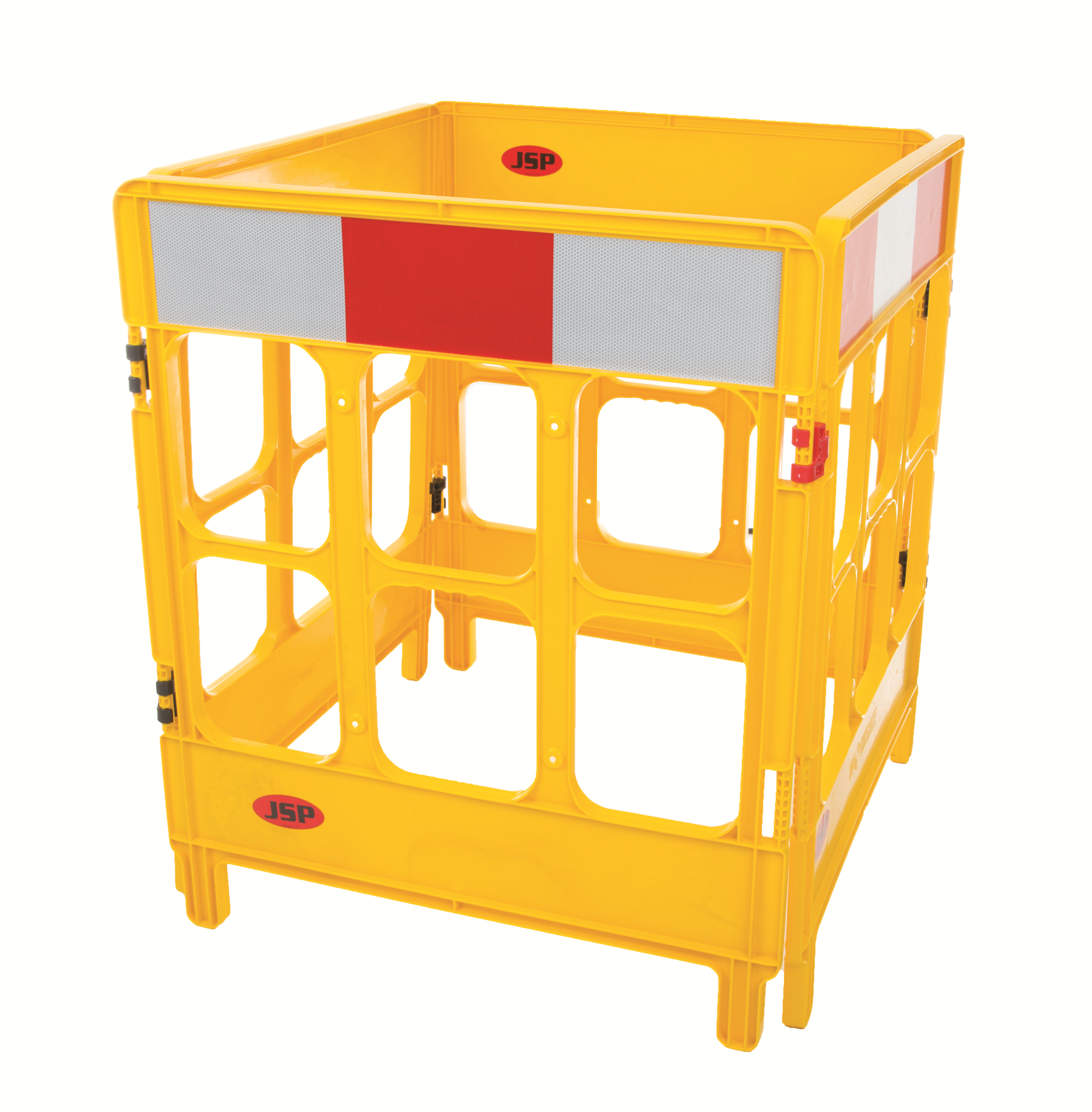 JSP 4-gate foldable polypropylene work barriers - CLEANING PRODUCTS