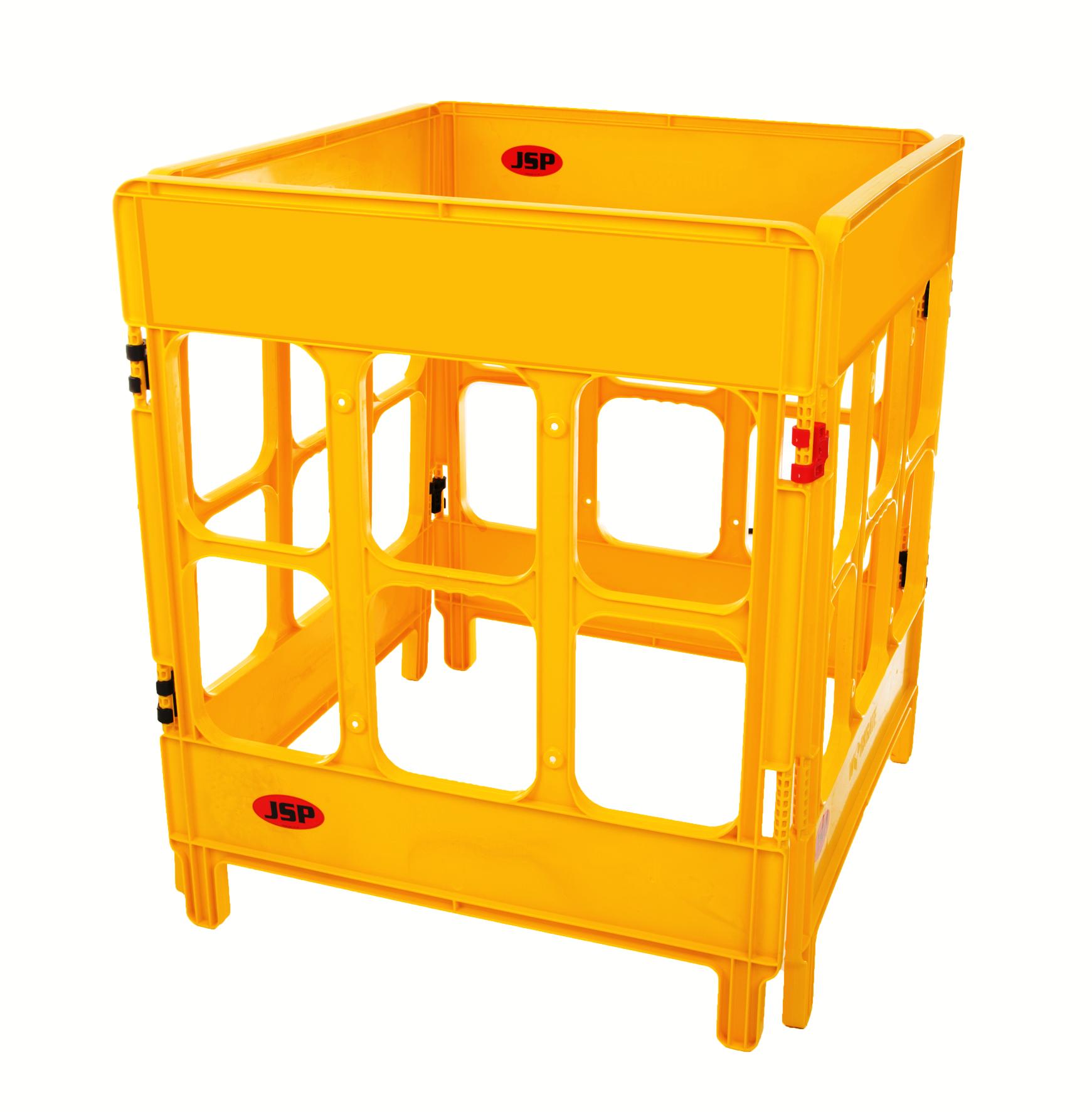 JSP 4-gate foldable polypropylene work barriers - 9