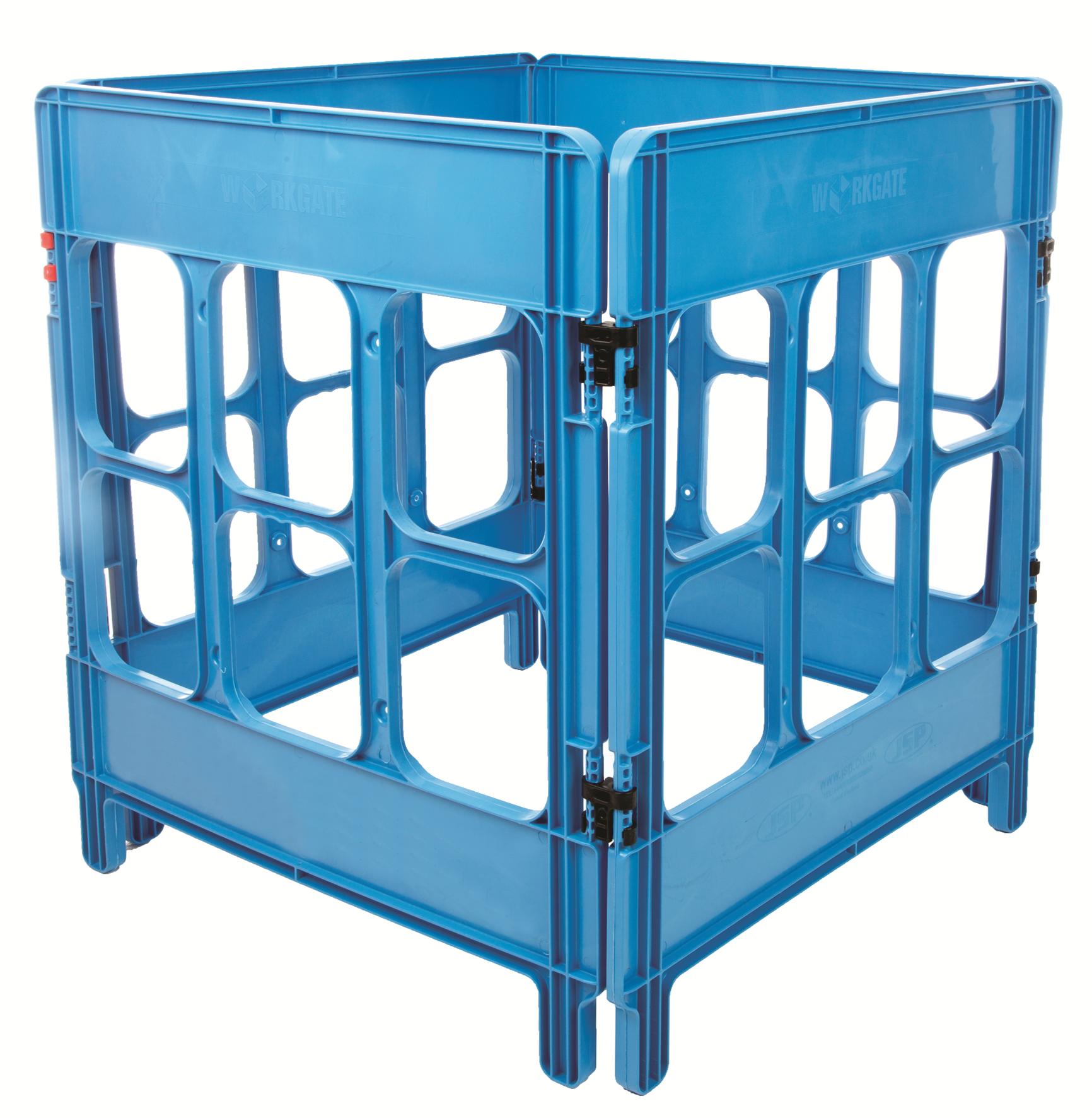 JSP 4-gate foldable polypropylene work barriers - 10
