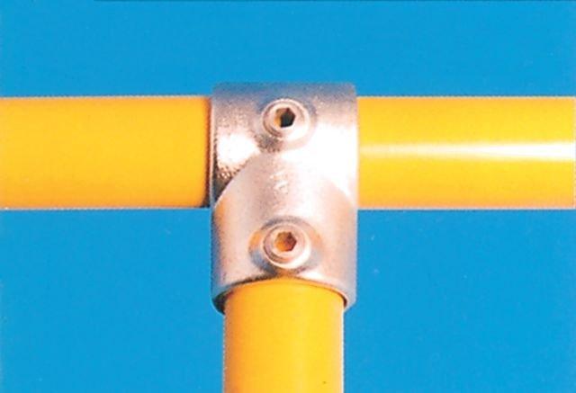 Modular Barrier - Short Tee Galvanised Clamp