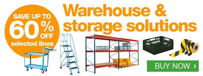 Warehouse Solutions - up to 60% off selected lines