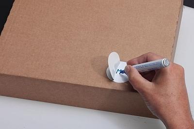 Farbige Blanko-Etiketten aus Folie mit Schutzlaminat zum Selbstbeschriften