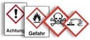 Gefahrstoffetiketten gemäß GHS-/CLP