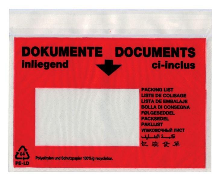 Selbstklebetaschen für Versandpapiere, Großmengen, Dokumente