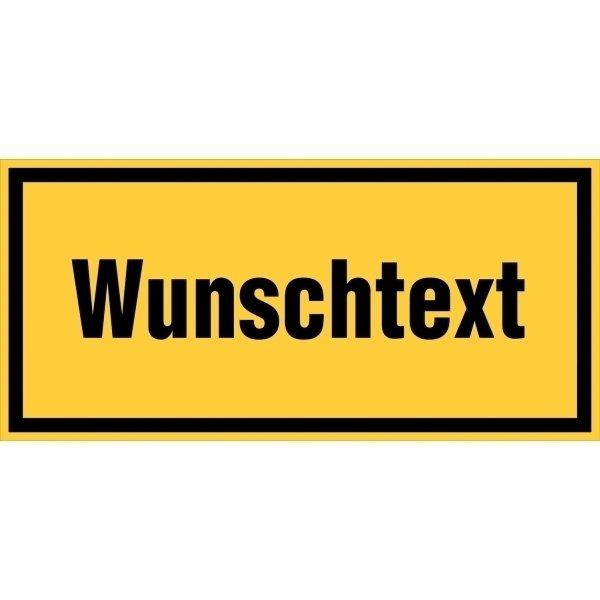 Warnhinweisschilder mit Text nach Wunsch