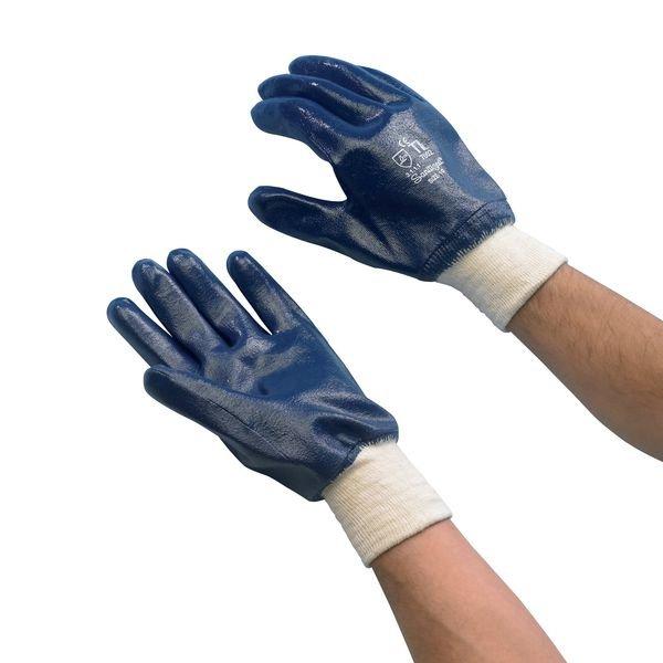 Baumwoll-Jersey-Handschuhe, vollbeschichtet, Strickbund