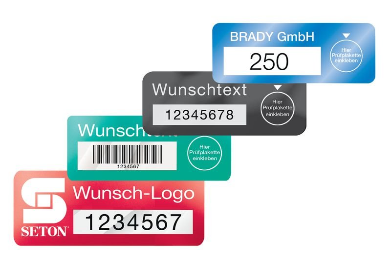 DuraGuard zur Prüfkennzeichnung, individuell, Polyester, metallisiert