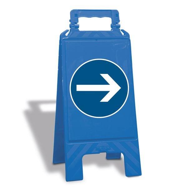 Richtungspfeil - Warnaufsteller mit Sicherheitssymbolen, EN ISO 7010