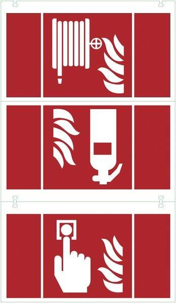 Piktrogramm-Set Brandschutz für LED-Notleuchten