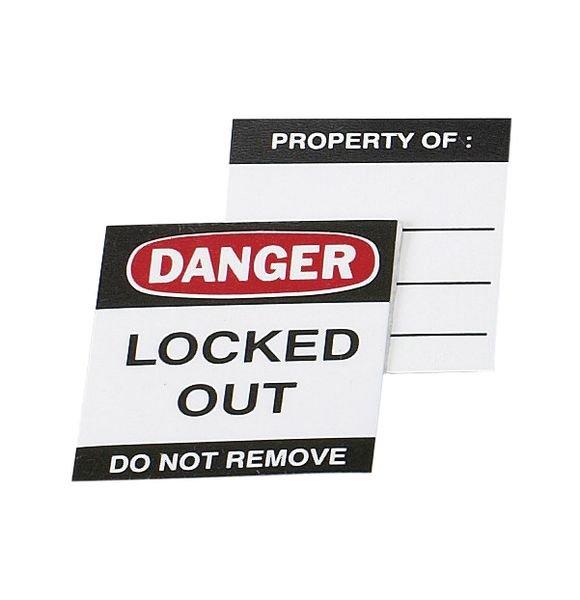 Lockout-Etiketten für Aluminiumvorhängeschlösser