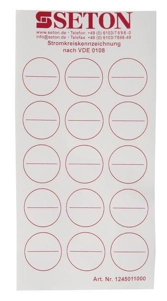 Stromkreiskennzeichnungen, blanko