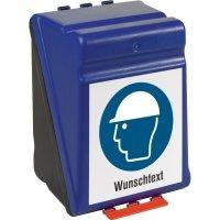 Aufbewahrungsboxen für Schutzausrüstung, mit Wunschtext