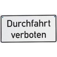 Durchfahrt verboten – Kettenschilder aus Aluminium