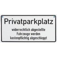 Privatparkplatz – Kettenschilder aus Aluminium