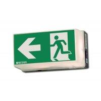 Rettungsweg links - Universal-Rettungszeichenleuchten, EN ISO 7010