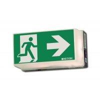 Rettungsweg rechts - Universal-Rettungszeichenleuchten, EN ISO 7010