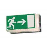 Rettungsweg rechts - Universal-Rettungszeichenleuchten