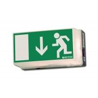 Rettungsweg Durchgang - Universal-Rettungszeichenleuchten
