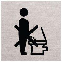 Bitte setzen - Piktogrammschilder aus Aluminium, selbstklebend