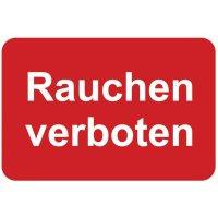 Rauchen verboten - Aufkleber zur Fahrzeugkennzeichnung
