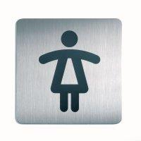 DURABLE WC quadratisch - Design-Piktogrammschilder, quadratisch