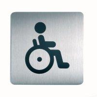 DURABLE Behinderten WC - Design-Piktogrammschilder, quadratisch