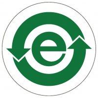 e mit Pfeil - China RoHS-Etiketten, auf Bogen